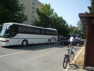 Очередь на автобус Mall Galleria Burgas