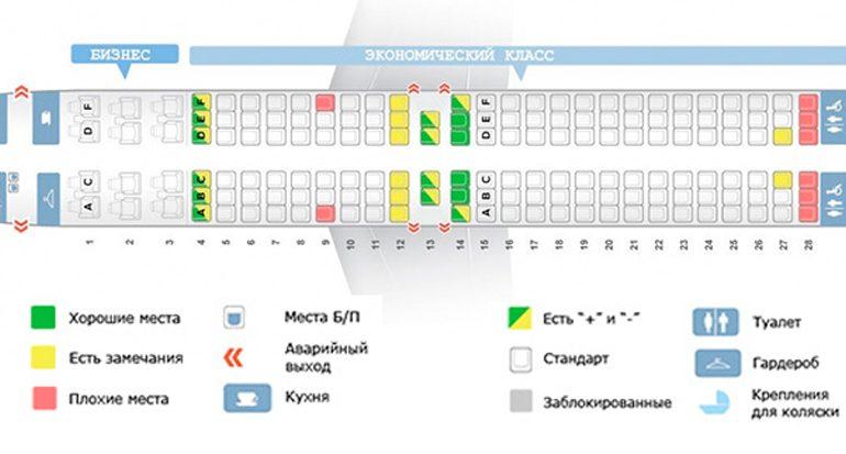Схема мест самолета Boeing 737-800