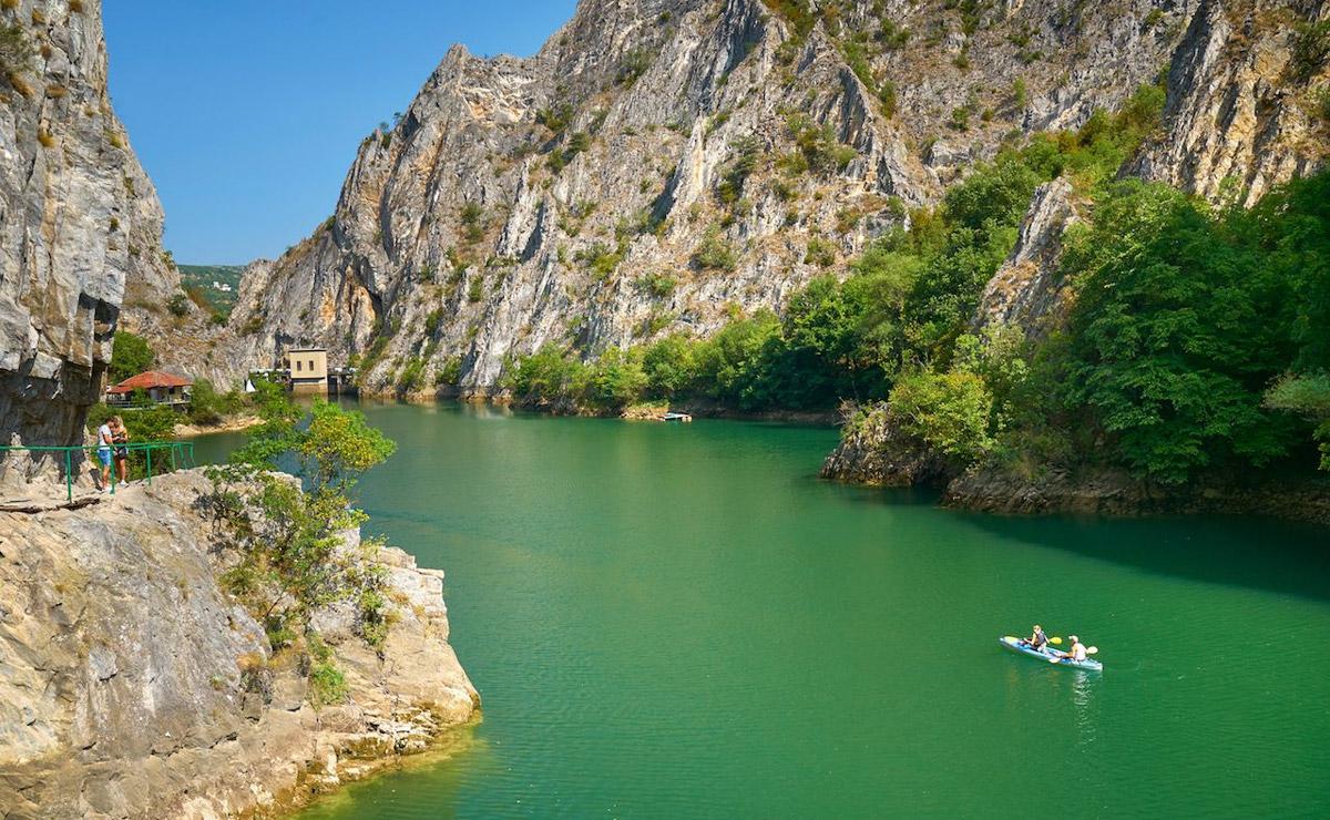 Каньон-озеро Матка. Македония.