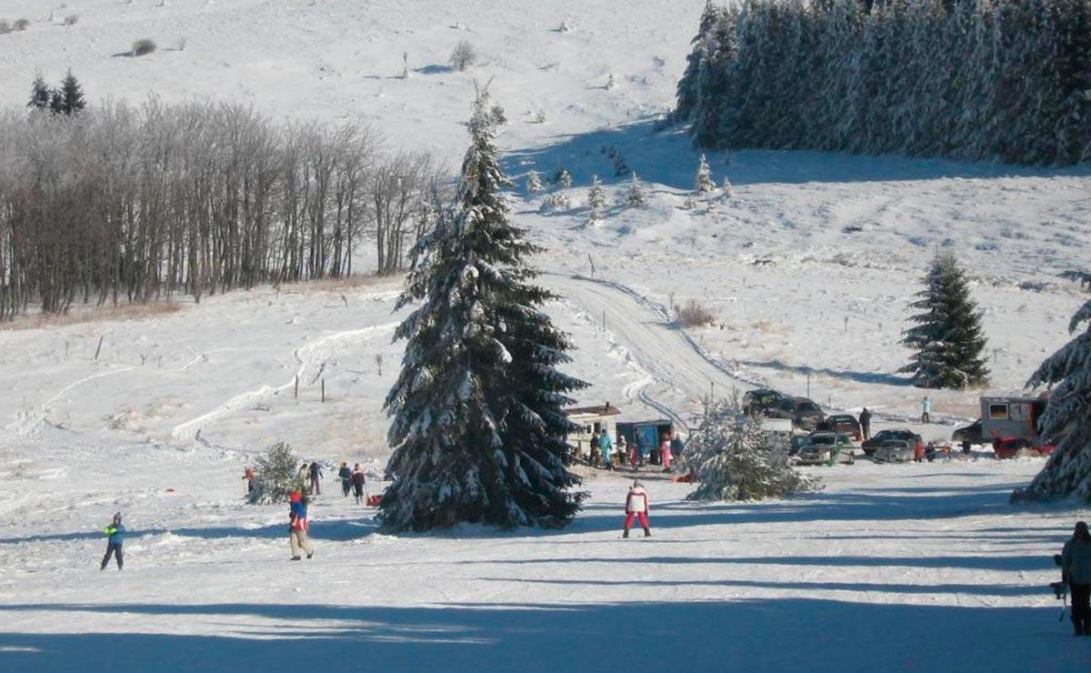Склон горнолыжного курорта Узана