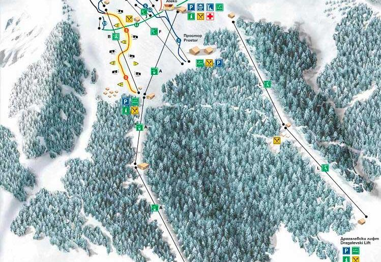 Карта курорта Витоша